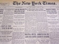 1932 AUGUST 22 NEW YORK TIMES - 5,000 HAIL MOLLISON HERE AFTER SEA HOP - NT 4050