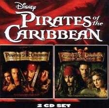 Pirates of the Caribbean 1 + 2 2 CD OST NUOVO