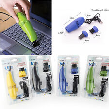 Mini USB Vacuum Cleaner For Laptop Desktop PC Keyboard Cleaning Brush Dust IT