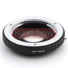 Minolta MD To Nikon Infinity Lens Adapter D3200 D7000 D7100 D750 D800 With Glass