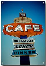 ROUTE 66 CAFE Arizona metallo segno, Route 66 Road Trip, Route 66 Moto Tour.4