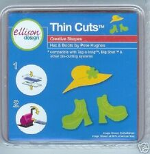 ELLISON DESIGN Thin Cuts Die HAT & BOOTS 22082 Pete Hughes Girls Shoes Ladies
