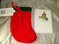 CARDS Christmas C R Gibson NEW Pack of 12 NOTES/ENVELOPES in Stocking Decoupage