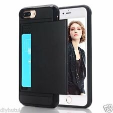 Hanlesi iPhone 7 Plus Wallet Card Holder Dual Layer Slim Fit Protect Cover(E155)