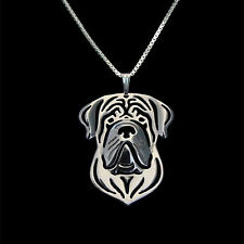❤️ Halskette mit Anhänger English Mastiff, Hundekopf pendant, necklace