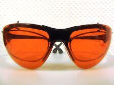 Für Brillenträger: Blaulicht und UV Schutzbrille TERMINATOR UV400 Orange Clipon