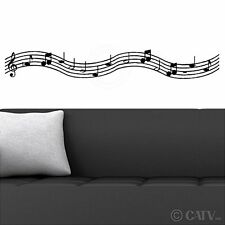 Music Scale With Notes wall saying vinyl lettering art decal quote sticker home