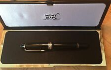 MONTBLANC Meisterstuck 146 Black & Gold Fountain Pen 14k F West Germany!