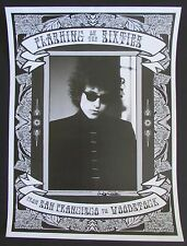 "Bob Dylan Poster Signed by Lisa Law ""Flashing on the Sixties"" Photographer"