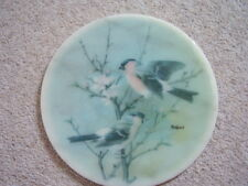 Marble  round big Birds picture-plaque,Bullfinch