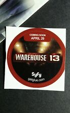 """WAREHOUSE 13 TITLE FLOATING SHOW NAME SYFY  SMALL 1.5"""" GETGLUE GET GLUE STICKER"""