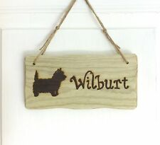 Driftwood Style Personalised Wooden Dog Cat Pet Kennel Name Sign Plaque