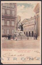 MODENA CITTÀ 88 MONUMENTO ai MARTIRI del 1831 Cartolina viagg. 1901 - DIFETTI !!
