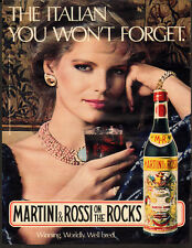 1982 Vintage ad for Martini & Rossi on the Rocks`Vermouth`Sexy Model (011714)