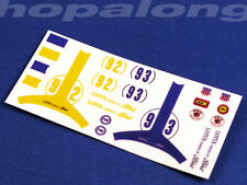"Scalextric/slot car 1/32 ""lotus ford"" waterslide decals. ns002"