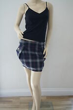 TOPSHOP Red Gold Checked Sailor Style Pleated Mini Skirt Size 10 NEW PH5
