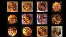 "Complete Air-Tite Set ""12 Labors of Hercules"" 12 @ 1oz .999 Fine Copper (12oz)"