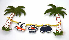 PALM TREE DESERT ISLAND   Embroidered Iron Sew On Cloth Patch Badge  APPLIQUE