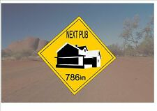 Australian Style Road Sign Australia Road Sign Novelty Pub Outback Joke Sign