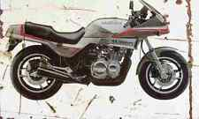 Suzuki XN85Turbo 1984 Aged Vintage SIGN A4 Retro