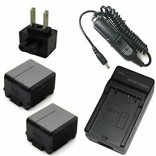 Charger + 2x Battery Pack for Panasonic NV-GS90 NV-GS98 PV-GS90 SDR-H40 SDR-H41