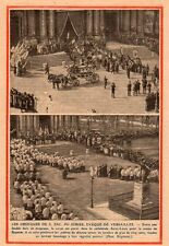 VERSAILLES OBSEQUE EVEQUE GIBIER CATHEDRALE SAINT LOUIS IMAGE 1931 OLD PRINT