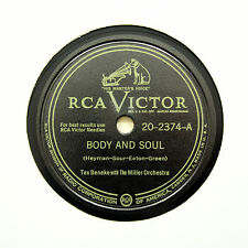 """TEX BENEKE & THE MILLER ORCHESTRA """"Body And Soul"""" VICTOR 20-2374 [78 RPM]"""
