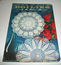 VINTAGE PATTERN LEAFLET BOOK 1953 COATS CLARKS CROCHET DOILIES MODERN MANNER 297