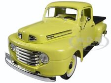 1948 FORD F-1 PICKUP TRUCK WITH FLATBED YELLOW 1:18 BY ROAD SIGNATURE 92218