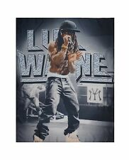 LIL WAYNE - LIVE FABRIC POSTER - Official Textile Flag - NEW Metal