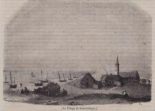 1845  --  PAYS BAS   LE VILLAGE DE SCHEVENINGUE  3I155