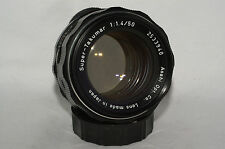 Pentax Super-Takumar 50 mm f/1.4 M42 screwmount manual focus lens