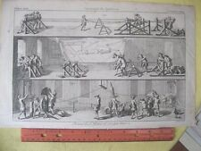 Vintage Print,FUNNY ROPE MAKING,18th Cent.J.Hinton,London,Occupations