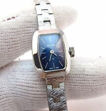 "WALTHAM.17j Manual Wind,All SS 5"" Wrist,w/Safety Chain Band LADIES WATCH,1078"