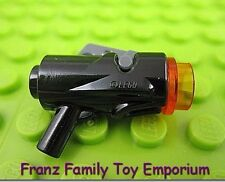 New LEGO Minifig Shooting Blaster GUN Orange Cap Trigger Weapon REALLY SHOOTS