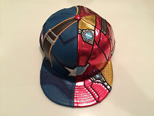 New Era Cap Hat Character Armor Captain America Ironman Civil War Fitted 7 1/2