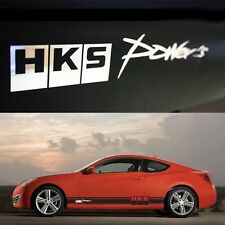 [TECHNICA] SPORTS DOOR LINE HKS Style Decal Stickers Matt Black Chrome Letter