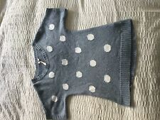 Lovely White Stuff short sleeve jumper blue grey spot size 8! Lambswool cashmere