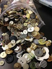 HUGE LOT!!!  5 lbs MIXED LOT OF ALL TYPES OF BUTTONS