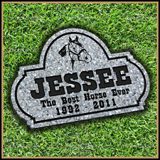 "Pet Memorial Grave Marker 8"" x 12"" Personalized Horse Headstone Gravestone"