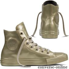 Da Donna Converse All Star oro metallizzato in gomma Sneaker Alte Stivali Taglia UK 3.5