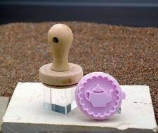 Stempel Plätzchen Keks Teekanne 5 cm aus Holz und Silikon von RBV Birkmann