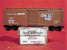 KD 20610 ROCK ISLAND 40' Box Car #20034 'ROUTE OF THE ROCKETS' MINT N-SCALE