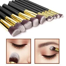 10pcs Kabuki Style Make Up Brush Set Face Powder Foundation Blusher - Style 2
