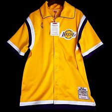100% Authentic Magic Johnson Mitchell Ness Warm Up Shooting Shirt Jersey 44 L