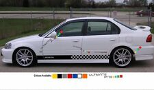 Decal sticker Stripe For HONDA civic 1997 1998 1999 2000 EK9 Type R lowering kit