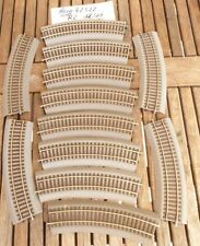 Roco 42522 In set 12 x Roco Line Tracks bent R 2 with Bedding, well preserved