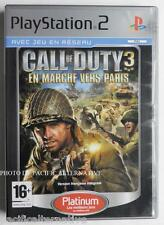 COMPLET jeu CALL OF DUTY 3 EN MARCHE VERS PARIS playstation 2 PS2 francais fps