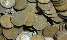 100 LBS Mixed Date Lincoln Wheat Cents Approx 13400 Unseached Coins 1909-1958