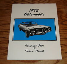 1972 Oldsmobile Illustrated Facts Feature Manual Brochure 72